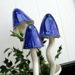 Blå svamp för trädgården